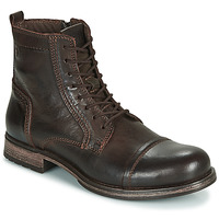 Schoenen Heren Laarzen Jack & Jones JFW RUSSEL LEATHER Brown
