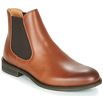 Schoenen Heren Laarzen Selected LOUIS LEATHER CHELSEA Cognac