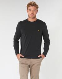 Textiel Heren T-shirts met lange mouwen Lyle & Scott TS512V-574 Zwart
