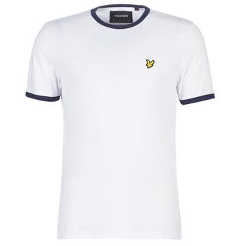 Textiel Heren T-shirts korte mouwen Lyle & Scott TS705V-Z660 Wit