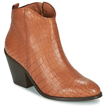 Schoenen Dames Enkellaarzen Fericelli LISA Brown