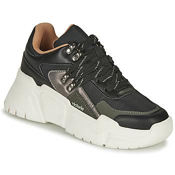 Schoenen Dames Lage sneakers Victoria TOTEM NYLON Zwart