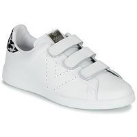 Schoenen Dames Lage sneakers Victoria TENIS VELCRO PIEL Wit