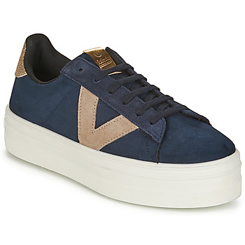 Schoenen Dames Lage sneakers Victoria BARCELONA DEPORTIVO Marine / Beige