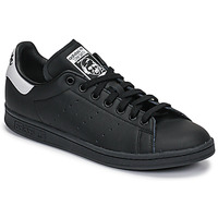 Schoenen Lage sneakers adidas Originals STAN SMITH Zwart / Wit