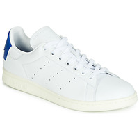Schoenen Lage sneakers adidas Originals STAN SMITH Wit / Blauw / Carré