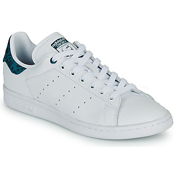 Schoenen Dames Lage sneakers adidas Originals STAN SMITH W Wit / Blauw / Leo