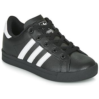 Schoenen Kinderen Lage sneakers adidas Originals COAST STAR C Zwart / Wit