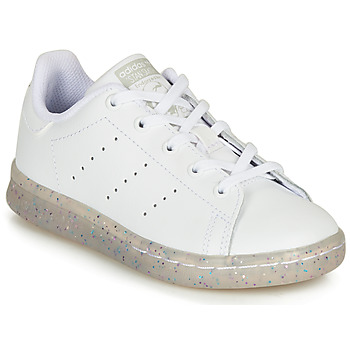 Schoenen Meisjes Lage sneakers adidas Originals STAN SMITH C Wit / Glitter