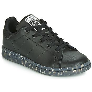 Schoenen Kinderen Lage sneakers adidas Originals STAN SMITH C Zwart