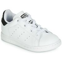 Schoenen Kinderen Lage sneakers adidas Originals STAN SMITH EL I Wit / Zwart