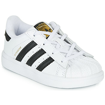 Schoenen Kinderen Lage sneakers adidas Originals SUPERSTAR I Wit / Zwart
