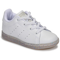 Schoenen Meisjes Lage sneakers adidas Originals STAN SMITH EL I Wit / Glitter