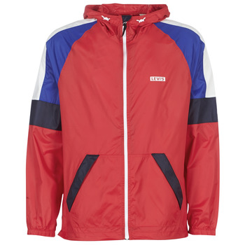 Textiel Heren Windjacken Levi's COLORBLOCK WINDRUNNER Rood / Blauw
