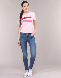 Textiel Dames Skinny Jeans Levi's 711 SKINNY Believe / It / Goud / Not