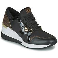 Schoenen Dames Lage sneakers MICHAEL Michael Kors LIV TRAINER Zwart / Brown