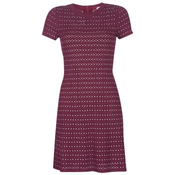 Textiel Dames Korte jurken MICHAEL Michael Kors EMBELL FLARE MINI DRS Bordeaux