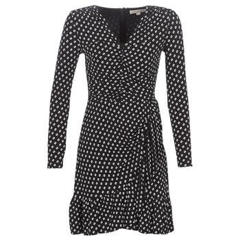 Textiel Dames Korte jurken MICHAEL Michael Kors ELV DOT SHRD LS DRS Zwart