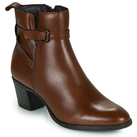 Schoenen Dames Enkellaarzen Betty London LAVANDA Cognac