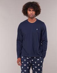 Textiel Heren T-shirts met lange mouwen Polo Ralph Lauren L/S CREW-CREW-SLEEP TOP Marine