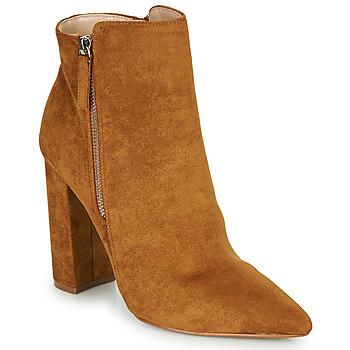 Schoenen Dames Enkellaarzen Buffalo FERMIN Cognac