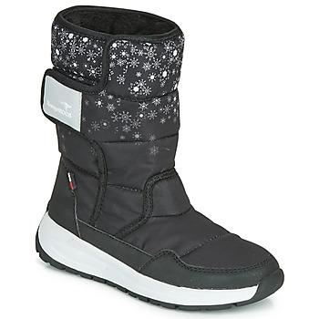 Schoenen Meisjes Snowboots Kangaroos K-FLUFF RTX Zwart / Grijs