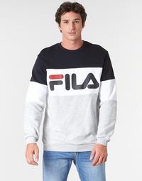 Textiel Heren Sweaters / Sweatshirts Fila STRAIGHT BLOCKED CREW Grijs / Zwart