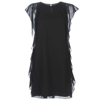Textiel Dames Korte jurken Lauren Ralph Lauren RUFFLED GEORGETTE DRESS Zwart