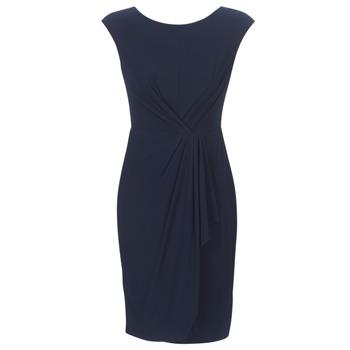 Textiel Dames Korte jurken Lauren Ralph Lauren RUCHED CAP SLEEVE DRESS Marine