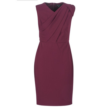 Textiel Dames Lange jurken Lauren Ralph Lauren RUBY SLEEVELESS DAY DRESS Bordeaux