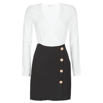 Textiel Dames Korte jurken Moony Mood LUCE Zwart / Wit