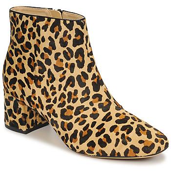 Schoenen Dames Enkellaarzen Clarks SHEER FLORA Leopard