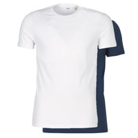 Textiel Heren T-shirts korte mouwen Levi's SLIM 2PK CREWNECK 1 Marine / Wit