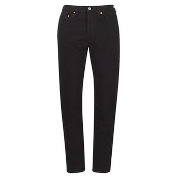 Textiel Dames Boyfriend jeans Levi's 501 CROP  zwart / Hart