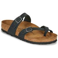 Schoenen Dames Leren slippers Birkenstock MAYARI Zwart