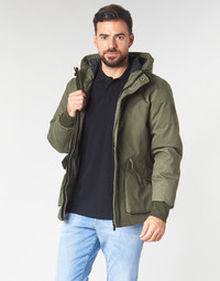 Textiel Heren Wind jackets Scotch & Soda SHORT HOODED JACKET WITH INSIDE QUILTING Kaki