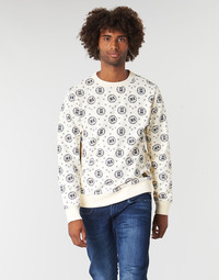 Textiel Heren Sweaters / Sweatshirts Scotch & Soda CREWNECK SWEAT WITH LOGO ALL-OVER PRINT Wit