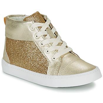 Schoenen Meisjes Hoge sneakers Clarks CITY OASISHI K Goud