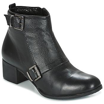 Schoenen Dames Enkellaarzen Andrea Conti CASTEL Zwart
