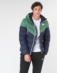 Textiel Heren Dons gevoerde jassen Nike M NSW DWN FILL WR JKT HD Marine / Groen