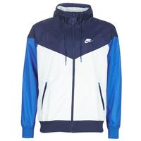 Textiel Heren Windjacken Nike M NSW HE WR JKT HD Blauw / Wit