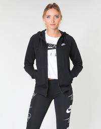 Textiel Dames Sweaters / Sweatshirts Nike W NSW ESSNTL HOODIE FZ FLC Zwart