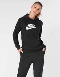Textiel Dames Sweaters / Sweatshirts Nike W NSW ESSNTL HOODIE PO  HBR Zwart