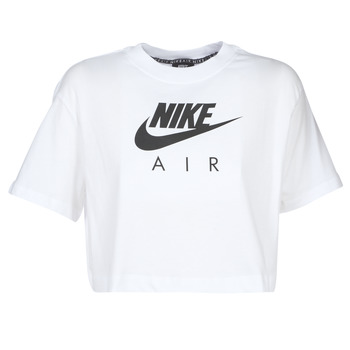 Textiel Dames T-shirts korte mouwen Nike W NSW AIR TOP SS Wit