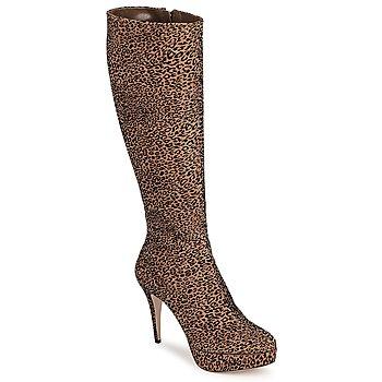 Schoenen Dames Hoge laarzen Sebastian FLOC-LEO Leopard