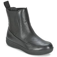 Schoenen Dames Laarzen FitFlop FF-LUX CHELSEA BOOT Zwart