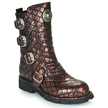 Schoenen Dames Laarzen New Rock  Zwart / Rood