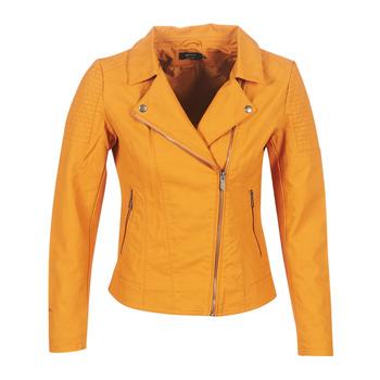 Textiel Dames Leren jas / kunstleren jas Only ONLMEGAN Geel