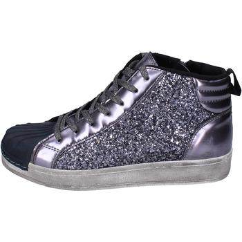 Schoenen Meisjes Hoge sneakers Holalà sneakers glitter vernice Grigio
