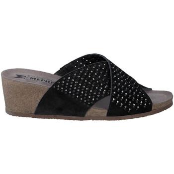 Schoenen Dames Leren slippers Mephisto MELODIESPARK Zwart
